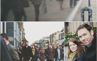 Christmassy engagement shoot
