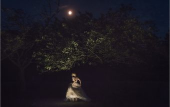 moonlit bride, trees and moonlight, dancing in the light of the moon,