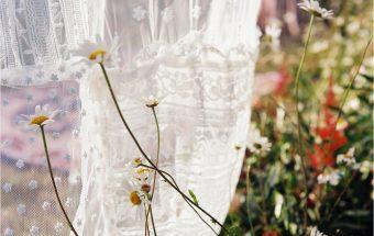 Summer wildflower meadow elopement on film ~ Ragini & Owen
