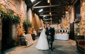 Winter Wedding at Kinkell Byre ~ Congratulations Lynne & Jonnie